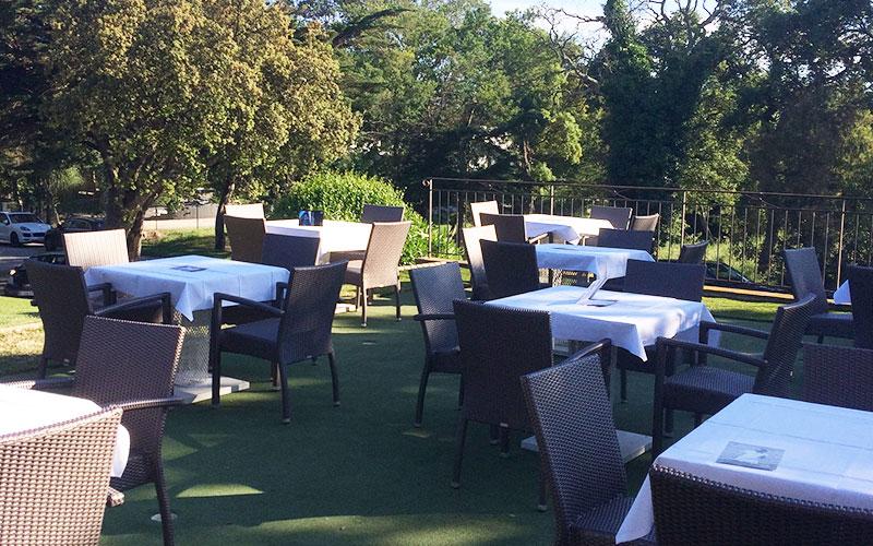 Restaurant Club House Golf de Beauvallon compétition Coupe du président terrasse