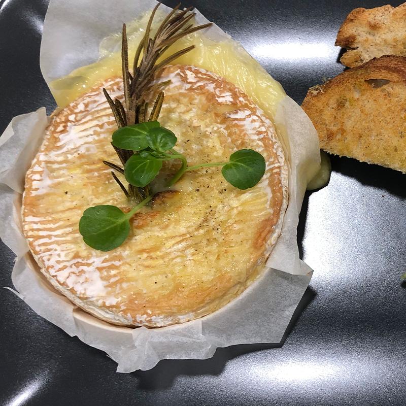 Club House Restaurant - carte menu 2021 - plat - camembert rôti - visuel