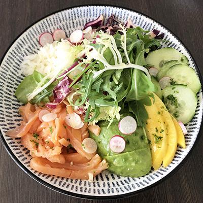 Club House Restaurant - carte menu 2021 - Club bowl saumon fumé visuel