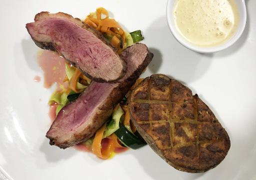 Club House Restaurant - carte menu 2021 - plat - magret canard - visuel