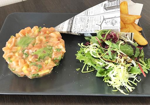 Club House Restaurant - carte - tartare saumon visuel