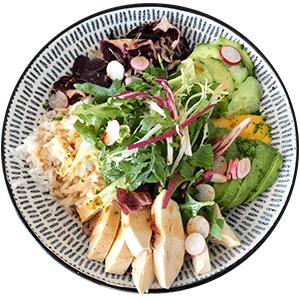 Club House Restaurant - service déjeuner - plat - club bowl poulet visuel