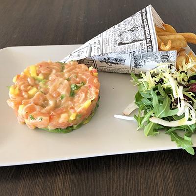 Club House Restaurant - carte menu 2021 - tartare de saumon exotique visuel