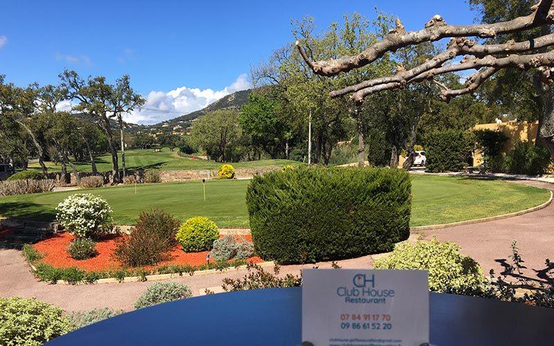 Restaurant Club House Golf de Beauvallon Golf de Beauvallon view on putting green
