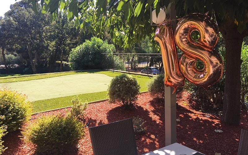 Restaurant Club House Golf de Beauvallon anniversaire ballon