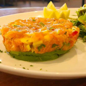 Restaurant Club House Golf de Beauvallon carte été summer 2020 salmon tartar